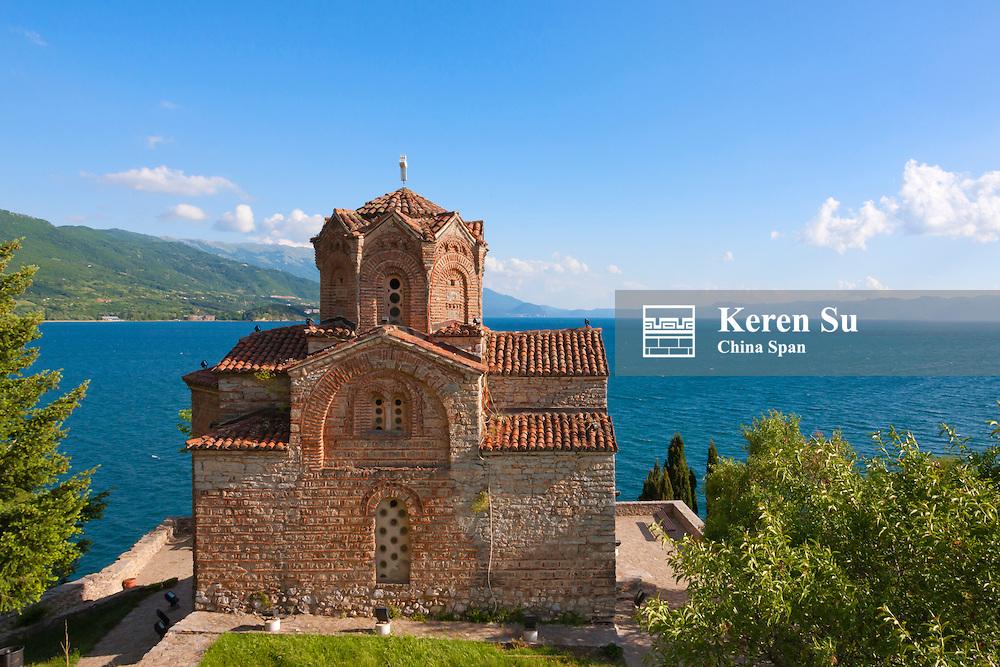 Church of St. John the Theologian at Kaneo on the shores of Lake Ohrid, UNESCO World Heritage, Republic of Macedonia