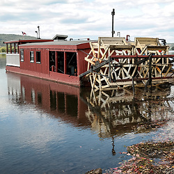 Millersburg, PA, USA - October 5, 2014: The Millersburg Ferry at dock before crossing the Susquehanna River.