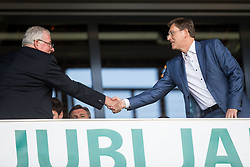 Rudi Zavrl and Miro Cerar, prime minister of Slovenia during football match between National teams of Slovenia and Malta in Round #6 of FIFA World Cup Russia 2018 qualifications in Group F, on June 10, 2017 in SRC Stozice, Ljubljana, Slovenia. Photo by Vid Ponikvar / Sportida