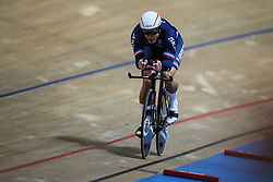 March 1, 2019 - Pruszkow, Poland - Michael D'Almeida of France competes on his way to winning the Bronze medal in the Mens 1 km time trial on day three of the UCI Track Cycling World Championships held in the BGZ BNP Paribas Velodrome Arena on March 01, 2019 in Pruszkow, Poland. (Credit Image: © Foto Olimpik/NurPhoto via ZUMA Press)