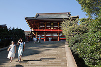 Tsurugaoka Hachimangu Shrine is the most important Shinto shrine in the city of Kamakura.  A Shinto shrine now, Tsurugaoka Hachiman-gu was also a Buddhist temple for most of its history. The shrine is at the geographical and cultural center of the city of Kamakura which has  grown around it.