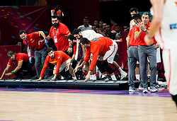 Players of Spain during basketball match between National Teams of Spain and Turkey at Day 11 in Round of 16 of the FIBA EuroBasket 2017 at Sinan Erdem Dome in Istanbul, Turkey on September 10, 2017. Photo by Vid Ponikvar / Sportida