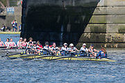 Mortlake/Chiswick, GREATER LONDON. United Kingdom. Upper Thames Rowing Club, W.MasD.8+. 2017 Vesta Veterans Head of the River Race, The Championship Course, Putney to Mortlake on the River Thames.<br /> <br /> <br /> Sunday  26/03/2017<br /> <br /> [Mandatory Credit; Peter SPURRIER/Intersport Images]