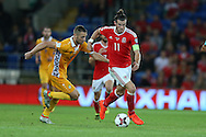 Gareth Bale of Wales in action.Wales v Moldova , FIFA World Cup qualifier at the Cardiff city Stadium in Cardiff on Monday 5th Sept 2016. pic by Andrew Orchard, Andrew Orchard sports photography