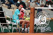Rafael Nadal (ESP) during the Roland Garros 2020, Grand Slam tennis tournament, on September 30, 2020 at Roland Garros stadium in Paris, France - Photo Stephane Allaman / ProSportsImages / DPPI