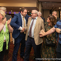 Cathal Crowe and Claire Colleran Molloy congratulates Pat McMahon