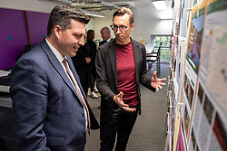 Pictured: Jamie Hepburn was shown around Whitespace by Managimng Partner Phillip Lockwood-Holmes<br />