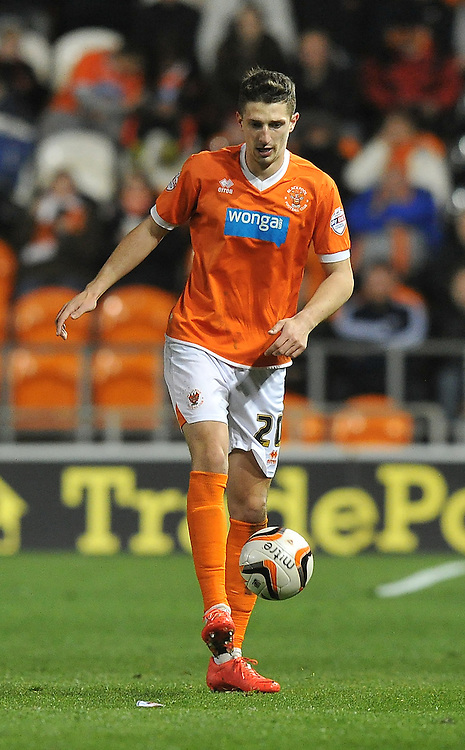 Blackpool's Craig Cathcart on the ball<br /> <br /> Photo by Dave Howarth/CameraSport<br /> <br /> Football - The Football League Sky Bet Championship - Blackpool v Derby County - Tuesday 8th April 2014 - Bloomfield Road - Blackpool<br /> <br /> © CameraSport - 43 Linden Ave. Countesthorpe. Leicester. England. LE8 5PG - Tel: +44 (0) 116 277 4147 - admin@camerasport.com - www.camerasport.com