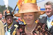 Belgian Crown Prince Filip and Dutch Queen Beatrix attend the 100 years' jubilee of the Old Limburgs Citizens Soldiers in Stramproy, in southern Netherlands near the Belgian border.<br /> <br /> Hare Majesteit de Koningin en Zijne Koninklijke Hoogheid Prins Filip van België bezoeken het 100-jarig jubileum van  het Oud Limburgs Schuttersfeest in Stramproy. Honderd jaar geleden vond voor het eerst een schuttersevenement plaats onder de naam Oud Limburgs Schuttersfeest. Het is een jaarlijks evenement waaraan ruim 160 schutterijen uit zowel Nederlands als Belgisch Limburg deelnemen. <br /> <br /> On the photo / Op de foto: <br /> <br />  Queen Beatrix / Koningin Beatrix
