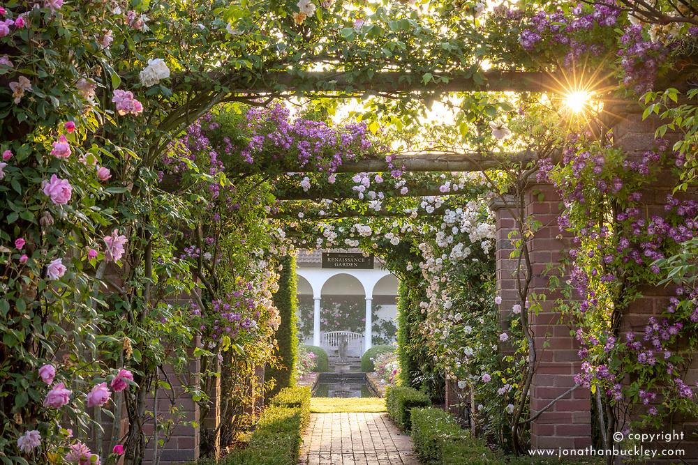 Entrance to The Renaissance Garden at dawn