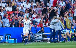 June 16, 2019 - Paris, France - Joie des joueurs de l equipe Etats Unis - But de Julie ERTZ  (Credit Image: © Panoramic via ZUMA Press)
