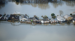 **Previously unseen pics from original aerial shoot**© London News Pictures. 09/02/2014. Shepperton, UK.  Aerial view showing flooding covering properties in Shepperton, Surrey. The Thames river has hit record levels causing extensive flooding to parts of the southeast of England. Photo credit : Ben Cawthra/LNP