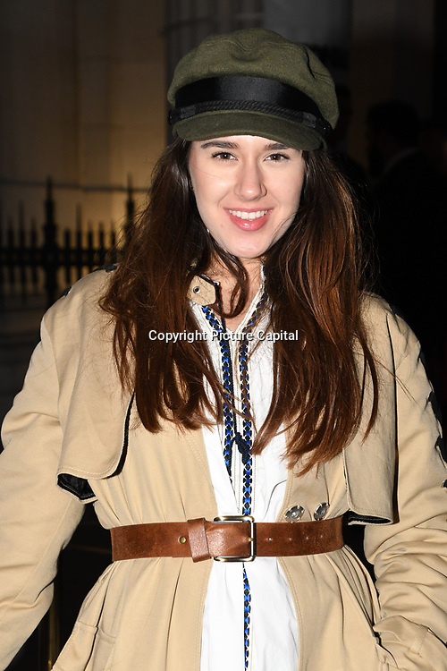 Miss Andrada - NOT Girly Girls attend the Fashion Scout - SS19 - London Fashion Week - Day 1, London, UK. 14 September 2018.