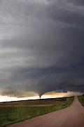 AURORA, NE - JUNE 17, 2009: A distant tornado touches down near Aurora, Nebraska on June 17, 2009. (Photo by Suzanne Tylander 2009)