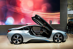 BMW i8 plug-in hybrid  electric car at Tokyo Motor Show 2013 in Japan