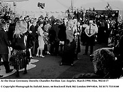 At the Oscar Ceremony. Dorothy Chandler Pavilion  Los Angeles. March 1990. Film. 90210/17<br /><br />© Copyright Photograph by Dafydd Jones<br />66 Stockwell Park Rd. London SW9 0DA<br />Tel 0171 733 0108