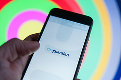 The Guardian newspaper application is seen in an iPhone in this photo illustration on December 15, 2017. (Photo by Jaap Arriens/Sipa USA)