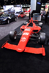12 February 2015:  Mazda-Dallara IL-15 MZR-R Indy Race Car.<br /> <br /> First staged in 1901, the Chicago Auto Show is the largest auto show in North America and has been held more times than any other auto exposition on the continent. The 2015 show marks the 107th edition of the Chicago Auto Show. It has been  presented by the Chicago Automobile Trade Association (CATA) since 1935.  It is held at McCormick Place, Chicago Illinois