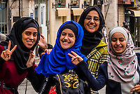 Jordanian women, Downtown Amman, Jordan.