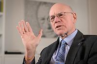 17 DEC 2019, BERLIN/GERMANY:<br /> Norbert Lammert, CDU, Vorsitzender der Konrad-Adenauer-Stiftung, KAS, waehrend einem Interview, in seinem Buero, Konrad-Adenauer-Stiftung<br /> IMAGE: 20191217-02-013<br /> KEYWORDS: Büro