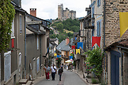 Najac, France. Najac is in the Aveyron department in southern France. Najac village is set along a ridge above a bend in the Aveyron River. The village is known for historic buildings and apparent medieval character. In the earlier part of the last century the village had around 2000 people but it suffered marked population decline as workers migrated to towns and cities. Several films concern the village and its surrounds, for example, La Vie Comme Elle Va.