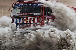 AREQUIPA, Jan. 11, 2019  Dutch driver Richard de Groot and co-driver Hulsebosch Jan compete during the 4th stage of the 2019 Dakar Rally Race, near La Joya, Arequipa province, Peru, on Jan. 10, 2019. (Credit Image: © Xinhua via ZUMA Wire)