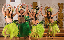 """© Licensed to London News Pictures. 05/10/2012. London, England. Dance group """"Beats of Polynesia"""". London Pacific Fashion Show at the Salvation Army Hall in Oxford Street. The fashion show featured designers from New Zealand and the South Pacific region with 60 models and 4 dance groups. The show was in support of the Help for Heroes charity. Help for Heroes provides direct, practical support to wounded, injured and sick Service personnel, veterans, and their families. Photo credit: Bettina Strenske/LNP"""