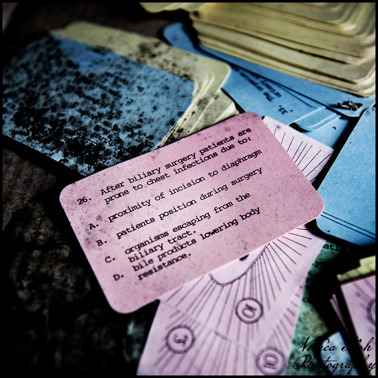 Multiple choice medical questions on mouldy cards