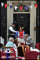 Downing Street host a Street Party to celebrate the Royal Wedding, Friday April 29  2011. Photo By Stephen Lock/ Parsons Media Ltd.