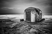 The concrete pumphouse at The Cowrie Hole, Newcastle, Australia