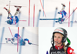 11.02.2011, Kandahar, Garmisch Partenkirchen, GER, FIS Alpin Ski WM 2011, GAP, Damen, Super Combination, im Bild Combo vom Sturz Lara Gut (SUI) // Combo of fall from Lara Gut (SUI) during ladies Supercombi, Fis Alpine Ski World Championships in Garmisch Partenkirchen, Germany on 11/2/2011. EXPA Pictures © 2011, PhotoCredit: EXPA/ J. Groder