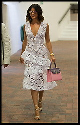 July 14, 2017 - London, London, United Kingdom - Image licensed to i-Images Picture Agency. 14/07/2017. London, United Kingdom.  Lucy Mecklenburgh on Men's Semi-final day at the Wimbledon Tennis Championships in London.  Picture by Stephen Lock / i-Images (Credit Image: © Stephen Lock/i-Images via ZUMA Press)