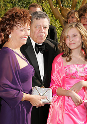 Photo by: RE/Westcom/starmaxinc.com<br />©2005<br />ALL RIGHTS RESERVED<br />Telephone/Fax: (212) 995-1196<br />9/11/05<br />Jerry Lewis with his wife and daughter at the Creative Emmy Awards.<br />(Los Angeles, CA)
