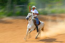 Rodeio crioulo com prova de tiro de laço, em Encruzilhada do Sul. Foto: Jefferson Bernardes / Preview.com