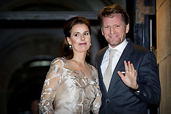 Prince Pieter-Christiaan and Princess Anita of The Netherlands arrive for Princess Beatrix 80th birthday reception held at the Royal Palace on Dam Square in Amsterdam, Netherlands, February 3, 2018. Photo by Robin Utrecht/ABACAPRESS.COM