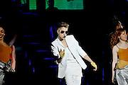 Justin Bieber performs at the Palacio de los deportes, Madrid