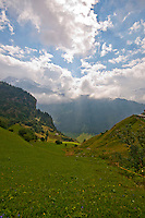 Golzern,  Switzerland, view along the valley.