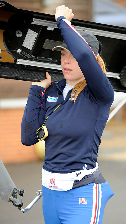 Caversham, Great Britain, Anna BEBINGTON, GB Rowing media day at the Redgrave Pinsent Rowing Lake. GB Rowing Training centre. Wed. 20.04.2008  [Mandatory Credit. Peter Spurrier/Intersport Images] Rowing course: GB Rowing Training Complex, Redgrave Pinsent Lake, Caversham, Reading