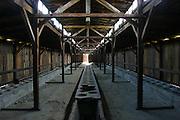 Birkenau Death Camp, Poland barracks toilets.