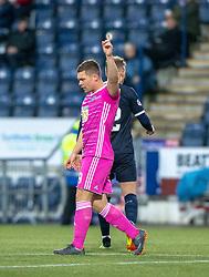 Ayr United's Craig Moore (9) cele scoring their goal. Falkirk 0 v 1 Ayr United, Scottish Championship game played 3/11/2018 at The Falkirk Stadium.