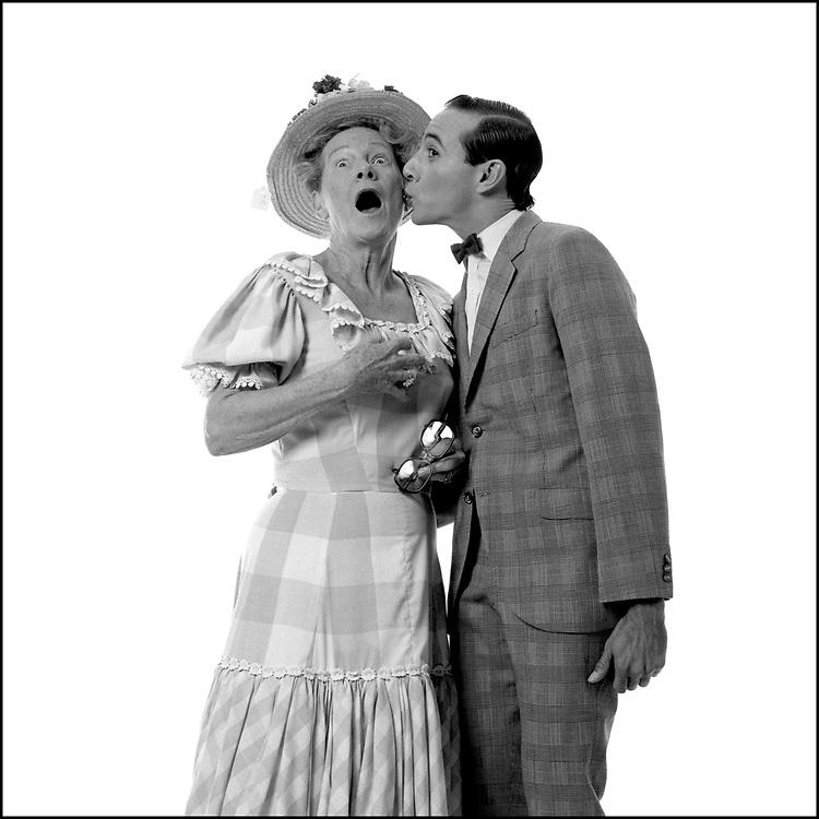 Minnie Pearl and Pee-wee Herman