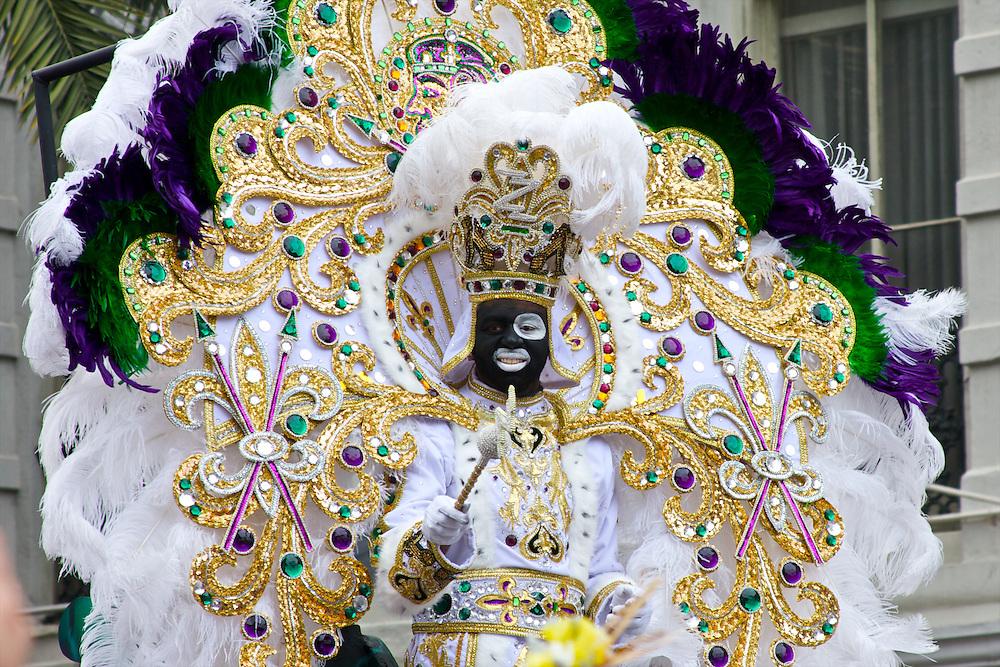 Zulu King, Mardi Gras 2012, New Orleans, LA