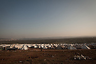 02/12/2012 Atmeh refugee camp, for internally displaced Syrians. Around 12,000 IDP now live in the camp. Atmeh, Syria.