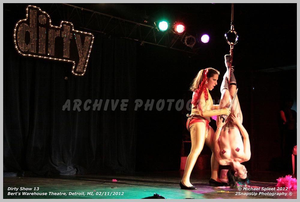 DETROIT, MI, SATURDAY, FEB. 11, 2012: Dirty Show 13, Cherries Jubilee at Bert's Warehouse Theatre, Detroit, MI, 02/11/2012.  (Image Credit: Michael Spleet / 2SnapsUp Photography)