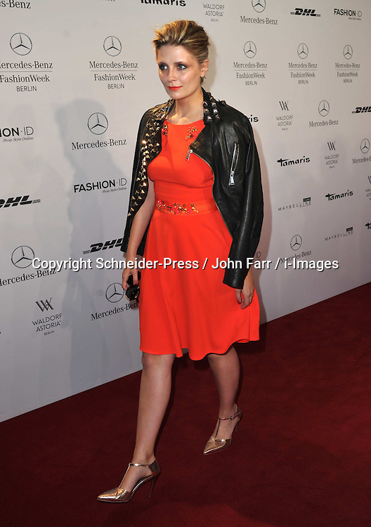 Mischa Barton attends the Marc Cain Show during the Mercedes-Benz Fashion Week Spring/Summer 2014 at Brandenburg Gate on July 4, 2013, Berlin, Germany. Photo by Schneider-Press / John Farr / i-Images. <br /> UK & USA ONLY