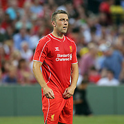 Rickie Lambert, Liverpool, in action during the Liverpool Vs AS Roma friendly pre season football match at Fenway Park, Boston. USA. 23rd July 2014. Photo Tim Clayton