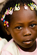 Young girl in Tano Akakro, Cote d'Ivoire on Saturday June 20, 2009.