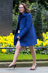 © Licensed to London News Pictures . 29/03/2017 . London , UK . NATALIE EVANS arrives . Ministers arriving and leaving for a Cabinet meeting and Prime Minster's Questions , at 10 Downing Street , Westminster . Today (29th March 2017) the British Government will trigger Article 50 of the Lisbon Treaty and commence Britain's withdrawal from the European Union . Photo credit : Joel Goodman/LNP