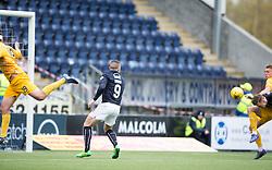 Falkirk's Paul Watson scoring their goal. <br /> half time : Falkirk 0 v 0 Morton, Scottish Championship game  played 1/5/2016 at The Falkirk Stadium.
