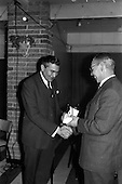 1963 - Presentations to Mr. John D. Ware, departing General Manager of W.D. & H.O. Wills, Ireland